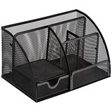 Image of Mesh Desk Organiser / Scratch-resistant with Non-marking Rubber Pads / Black