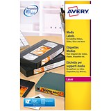 Image of Avery Laser Media Labels for Video Spine / 16 per Sheet / 145x17mm / L7674-25 / 400 Labels