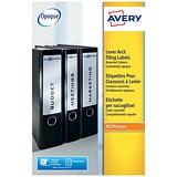 Image of Avery Laser Filing Labels for Lever Arch File / 4 per Sheet / 200x60mm / L7171 / 100 Labels