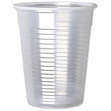 Image of Plastic Non Vending Cups for Cold Drinks / 200ml / Clear / Pack of 100