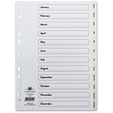 Image of Concord Index Dividers / Jan-Dec / A4 / White
