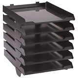 Image of Avery Paperstack Self-stacking Letter Tray / A4 / W250xD320xH300mm / Black / Pack of 6
