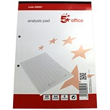 5 Star Analysis Pad / Ruled / 8 Cash Columns / 80 Leaf