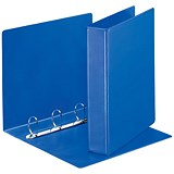 Image of Esselte Presentation Ring Binder / 4 D-Ring / 55mm Spine / 40mm Capacity / A4 Blue / Pack of 10