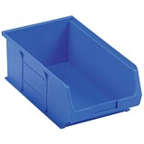 Image of Heavy Duty Polypropylene Container Bin / W350xD205xH132mm / Blue / Pack of 10