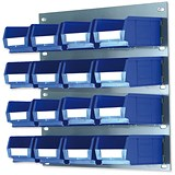 Louvred Panel / W457xH438mm / 16 x Storage Bins / W165xD100xH75mm