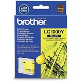 Image of Brother LC1000Y Yellow Inkjet Cartridge