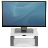 Image of Fellowes Premium Monitor Riser / 5 Heights / 36kg Capacity / Platinum