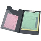 5 Star Executive Fold-over Clipboard with Pocket / Foolscap / Black