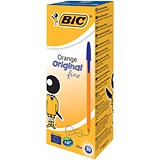 Image of Bic Orange Ball Pen / Blue / Pack of 20