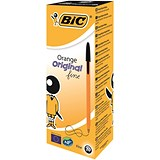 Image of Bic Orange Ball Pen / Black / Pack of 20