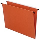 Bantex Linking Suspension Files / V Base / 15mm Capacity / Foolscap / Orange / Pack of 25