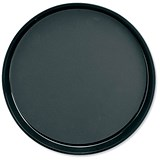 Image of Dishwasher Safe Non-Slip Polypropylene Round Tray / Diameter 300mm / Black