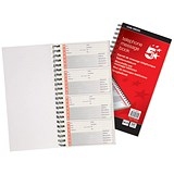 5 Star Wirebound Carbonless Telephone Message Book / 320 Notes / 80 Pages / 275x150mm