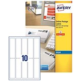 Image of Avery Smartstamp Logo Inkjet Labels / 10 per Sheet / 135x38mm / J5103-25 / 250 Labels