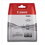 Image of Canon PGI-520BK Black Inkjet Cartridges (Twin Pack)