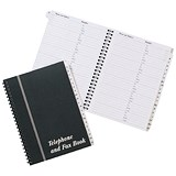 Image of Wirebound Board Cover Telephone and Fax Index Book - A5