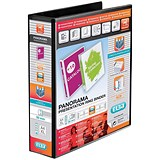 Elba Panorama Presentation Binder / A4 / 4 D-Ring / 50mm Capacity / Black / Pack of 4