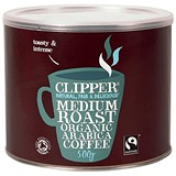 Clipper Fairtrade Organic Freeze Dried Instant Coffee Granules - 500g Tin