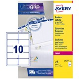 Avery Jam-free Laser Addressing Labels / 10 per Sheet / 99.1x57mm / White / L7173-100 / 1000 Labels