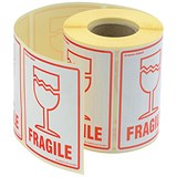 "Image of ""Fragile"" Parcel Labels - 500 Labels"