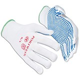 Image of Polka Dot Gloves / EN420 & EN388 Certification / Large / Blue / 12 Pairs