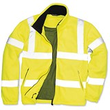 Image of Portwest High Visibility Fleece Jacket with Zipped Pockets / Medium / Yellow