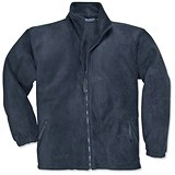Image of Portwest Heavy Fleece Jacket with Zipped Pockets / Extra Large / Navy