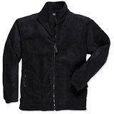 Image of Portwest Heavy Fleece Jacket with Zipped Pockets / Medium / Black