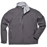 Image of Portwest Soft Shell Jacket / Water-resistant / Black / Medium