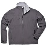 Image of Portwest Soft Shell Jacket / Water-resistant / Black Extra Large