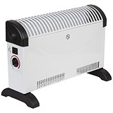 Image of 5 Star Convector Heater Electric 2 Heat Settings 2kW White and Black