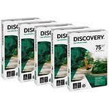 Image of Discovery A4 Everyday Paper / White / 75gsm / Box (5 x 500 Sheets)