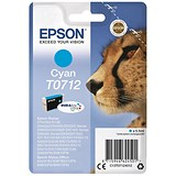 Image of Epson T0712 Cyan DURABrite Inkjet Cartridge