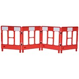 Image of Workgate 4 Gate Barrier / Lightweight Linking-clip / Reflective Panel / Red