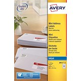 Image of Avery Inkjet Mini Labels / 65 per Sheet / 38.1x21.2mm / White / J8651-25 / 1625 Labels