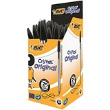 Bic Cristal Ball Pen / Clear Barrel / Black / Pack of 50