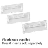 Image of Rexel MultiFiles Suspension File Tabs / Clear / Pack of 50