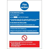 Stewart Superior Fire Action / If you discover fire Sign W210xH297mm Self-adhesive Vinyl