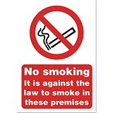 Image of No Smoking Sign 148x210mm (A5) White Self-adhesive Vinyl