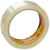 Image of Scotch Easy Tear Transparent Tape / 19mmx66m / Pack of 8
