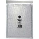 Jiffy Airkraft No.4 Bubble-lined Postal Bags / 240x320mm / Peel & Seal / White / Pack of 50