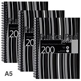 Image of Pukka Pad Jotta Wirebound Notebook / A5 / Perforated & Ruled / 200 Pages / Pack of 3