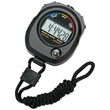 Image of Stopwatch Water Resistant Battery Operated Black