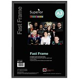 Black Photo Frame - Back Loading - Clear Front - A3