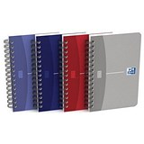 Oxford Office Soft Cover Wirebound Notebook / A6 / 180 Pages / Random Colour / Pack of 10
