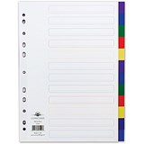 Image of Concord Plastic Subject Dividers / 12-Part / A4 / Assorted