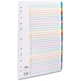 Image of Concord Punched Pocket Index / Multicolour tabs / Europunched / 1-31 / Extra Wide / A4 / White