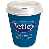 Image of Tetley On The Go Tea Bags with Double Walled Cups and Non Spill Sip Lids - Pack of 300