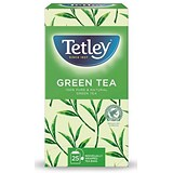 Tetley Pure Green Tea Bags / Individually Wrapped / Pack of 25